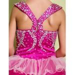 A-line Floor-length Flower Girl Dress - Organza / Satin Sleeveless Flower Girl Dresses