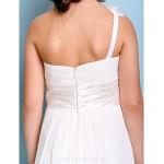Floor-length Chiffon Junior Bridesmaid Dress - Ivory A-line One Shoulder Junior Bridesmaid Dresses