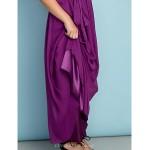 Ankle-length Chiffon Junior Bridesmaid Dress - Grape A-line One Shoulder Junior Bridesmaid Dresses