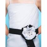 Floor-length Chiffon Junior Bridesmaid Dress - White Sheath/Column Spaghetti Straps Junior Bridesmaid Dresses