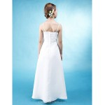 Floor-length Chiffon / Stretch Satin Junior Bridesmaid Dress - White A-line Spaghetti Straps Junior Bridesmaid Dresses