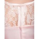Floor-length Satin / Lace Junior Bridesmaid Dress - Pearl Pink A-line / Princess Scoop Junior Bridesmaid Dresses