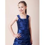 Floor Length Taffeta Junior Bridesmaid Dress Royal Blue A Line Princess Straps