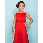 Floor-length Satin Junior Bridesmaid Dress - Ruby A-line / Princess Spaghetti Straps Junior Bridesmaid Dresses