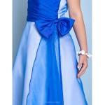 Floor-length Organza / Taffeta Junior Bridesmaid Dress - Royal Blue A-line Halter Junior Bridesmaid Dresses