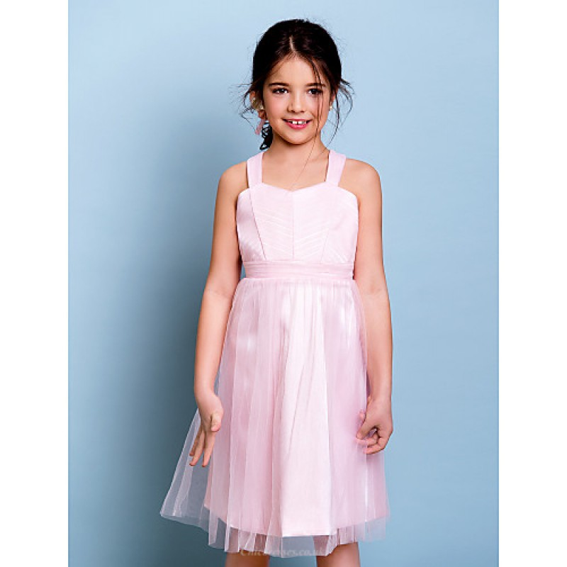 Junior Pink Party Dresses with Straps
