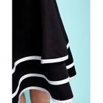 Knee-length Satin Junior Bridesmaid Dress - Black A-line Square / Spaghetti Straps Junior Bridesmaid Dresses