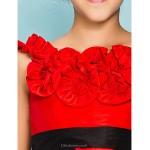 Knee-length Taffeta Junior Bridesmaid Dress - Ruby Ball Gown / Princess Jewel Junior Bridesmaid Dresses