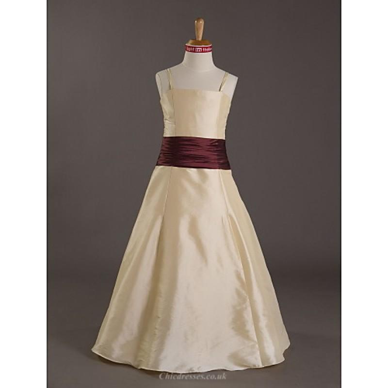 Tafeta Junior Bridesmaid Dresses in Champagne