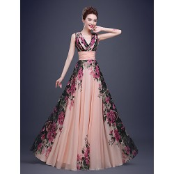 Cocktail PartyFormalEveningBlack TieGalaCompanyPartyFamily GatheringDress Multi Color A Line OneShoulder Floor Length