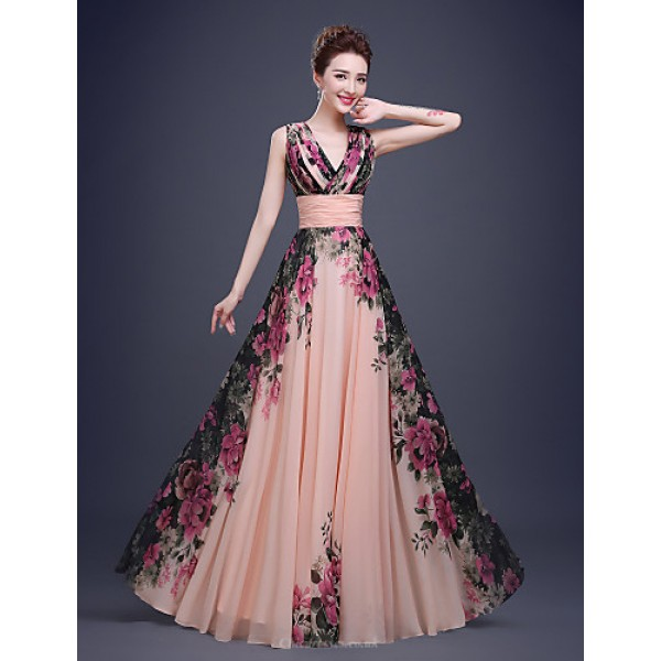 Cocktail PartyFormalEveningBlack TieGalaCompanyPartyFamily GatheringDress - Multi-color A-line OneShoulder Floor-length Special Occasion Dresses