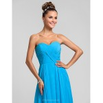 Wedding Party / Formal Evening / Military Ball Dress - Pool Plus Sizes / Petite A-line Sweetheart Floor-length Chiffon Special Occasion Dresses