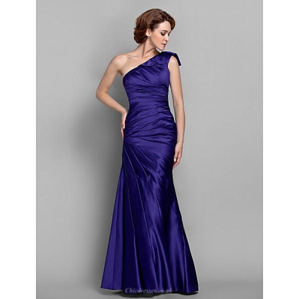 Trumpet/Mermaid Plus Sizes / Petite Mother of the Bride Dress - Regency Floor-length Sleeveless Satin Mother Of The Bride Dresses