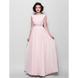 A Line Plus Sizes Petite Mother Of The Bride Dress Pearl Pink Floor Length Short Sleeve Chiffon