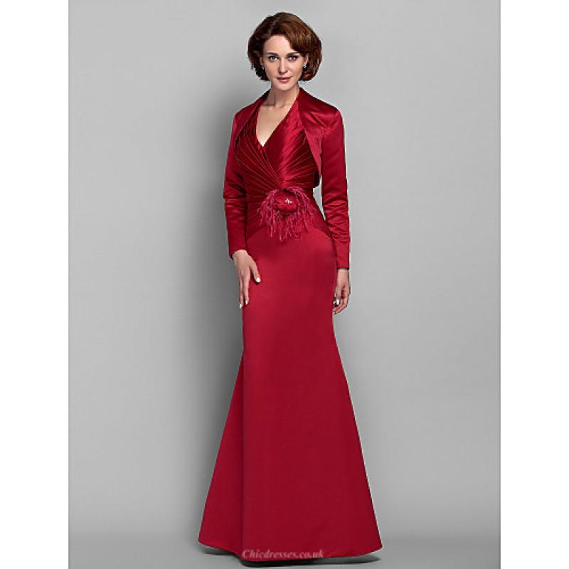 c7648c5dc6 ... Trumpet Mermaid Plus Sizes   Petite Mother of the Bride Dress - Ruby  Floor- ...