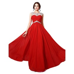 Formal Evening Dress Ruby Plus Sizes Petite A Line Bateau Floor Length Chiffon