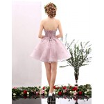 Cocktail Party Dress - Blushing Pink A-line Sweetheart Short/Mini Tulle Special Occasion Dresses