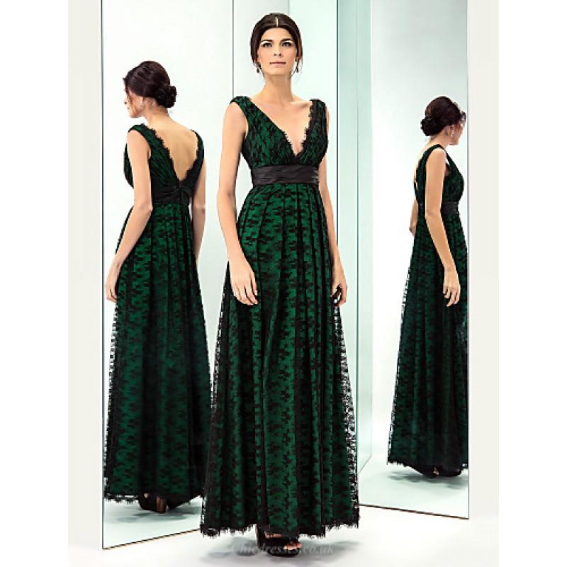 a74da5966449e TS Couture Prom / Military Ball / Formal Evening Dress - Dark Green Plus  Sizes /