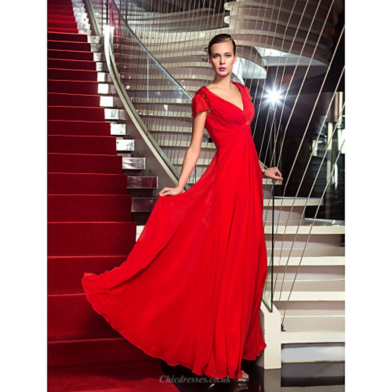 Chic Dresses Formal Evening / Military Ball Dress - Ruby ...