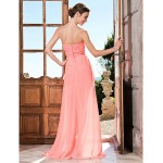 TS Couture Prom / Formal Evening Dress - Watermelon Plus Sizes / Petite Sheath/Column Sweetheart / Strapless Asymmetrical Chiffon Special Occasion Dresses