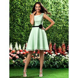 Knee Length Chiffon Bridesmaid Dress Sage Plus Sizes Petite A Line Princess Square