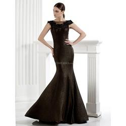 Formal Evening Dress Trumpet Mermaid Scoop Floor Length Knit