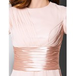 Sheath/Column Plus Sizes / Petite Mother of the Bride Dress - Pearl Pink Knee-length 3/4 Length Sleeve Chiffon Mother Of The Bride Dresses