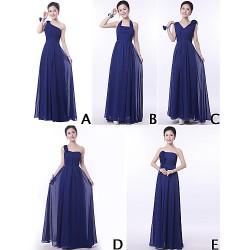 Mix & Match Dresses Floor Length Chiffon 9 Styles Bridesmaid Dresses (3228009)