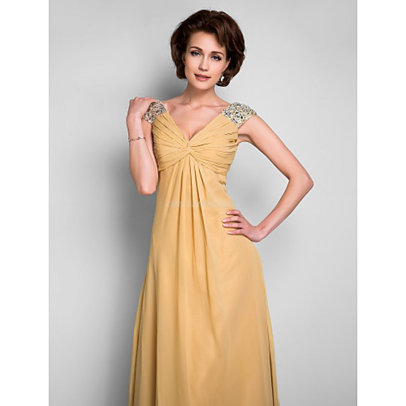 8c0a56985f ... A-line Plus Sizes / Petite Mother of the Bride Dress - Gold Floor- ...