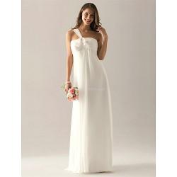 Floor Length Chiffon Bridesmaid Dress Ivory Plus Sizes Petite Sheath Column One Shoulder