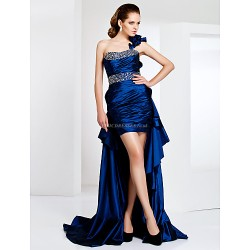 Cocktail Party / Formal Evening Dress - Royal Blue Plus Sizes / Petite Sheath/Column One ShoulderAsymmetrical / Sweep/Brush Train /