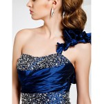 TS Couture Cocktail Party / Formal Evening Dress - Royal Blue Plus Sizes / Petite Sheath/Column One ShoulderAsymmetrical / Sweep/Brush Train / Special Occasion Dresses