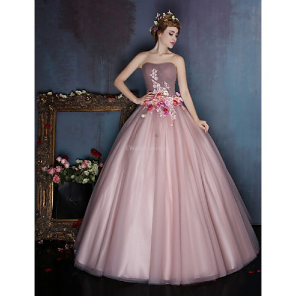 32b3cf0f6ae6 Dress - Candy Pink Ball Gown Sweetheart Floor-length Satin / Tulle Special Occasion  Dresses