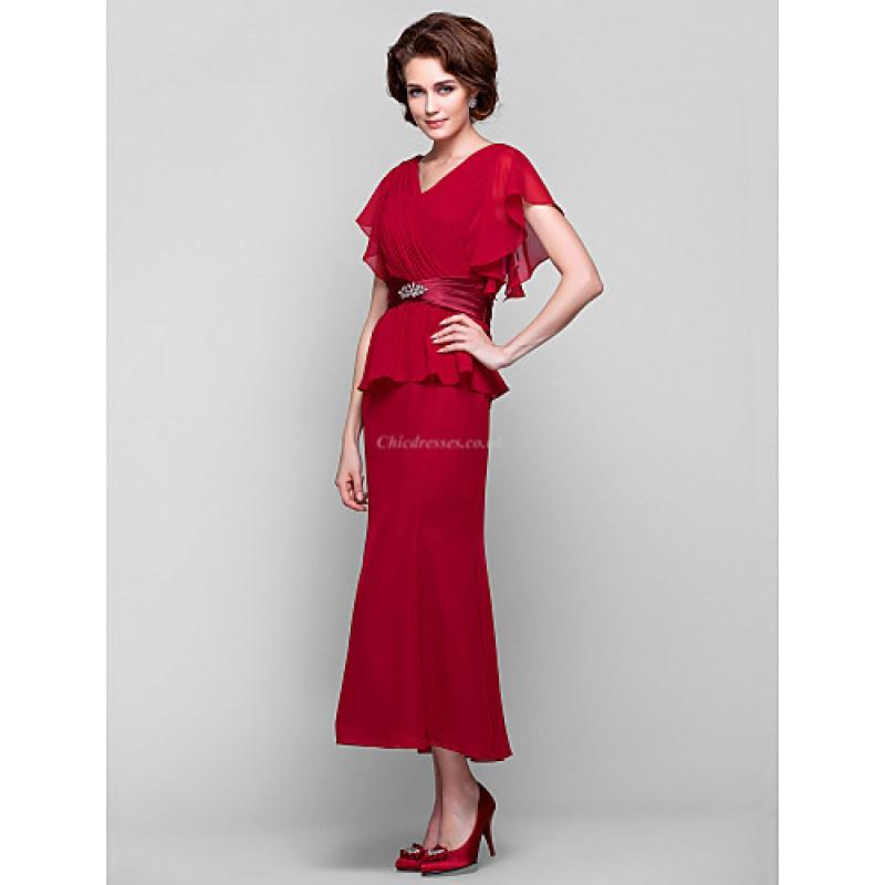 8ecdb0b6a0 ... Sheath Column Plus Sizes   Petite Mother of the Bride Dress - Ruby Tea-  ...