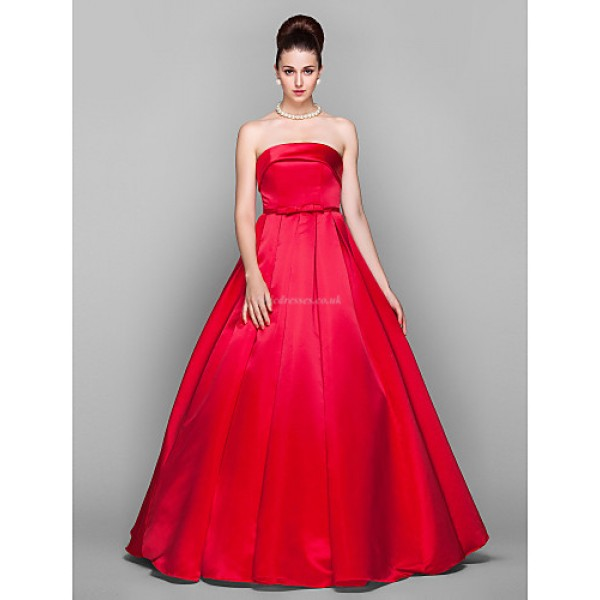TS Couture Formal Evening / Prom / Military Ball Dress - Ruby Plus Sizes / Petite Ball Gown Strapless Floor-length Satin Special Occasion Dresses