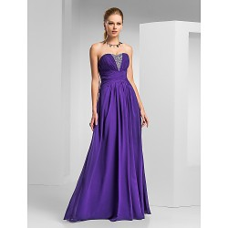 Prom Formal Evening Military Ball Dress Regency Plus Sizes Petite A Line Sweetheart Strapless Floor Length Chiffon