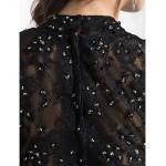 TS Couture Cocktail Party Dress - Black Plus Sizes / Petite A-line / Princess High Neck Knee-length Chiffon / Lace Special Occasion Dresses
