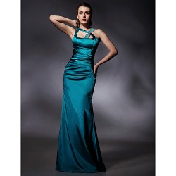 Formal Evening / Military Ball Dress - Jade Plus Sizes / Petite Trumpet/Mermaid Straps Floor-length Stretch Satin