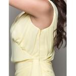 TS Couture Cocktail Party / Dress - Daffodil Plus Sizes / Petite Sheath/Column V-neck Asymmetrical / Short/Mini Chiffon Special Occasion Dresses