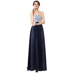 Formal Evening Dress Dark Navy Plus Sizes Petite A Line Sweetheart Floor Length Chiffon