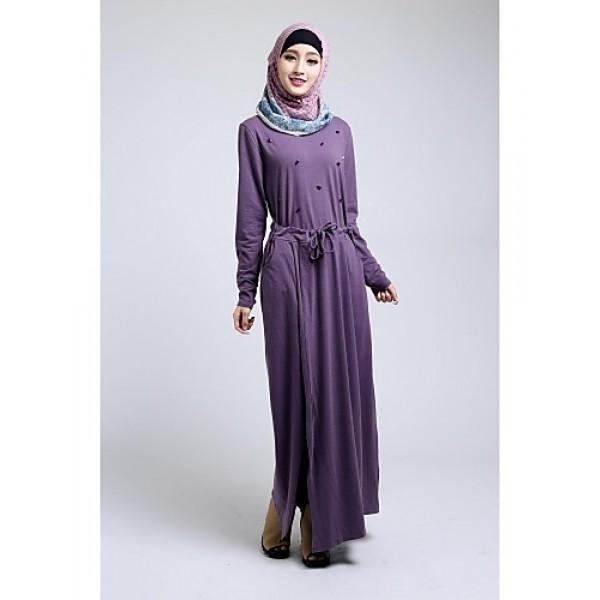 Formal Evening Abaya - Floor-length A-line Dress Special Occasion Dresses