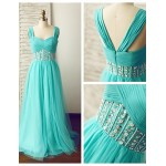 Formal Evening Dress - Jade A-line Straps Floor-length Chiffon / Tulle Special Occasion Dresses