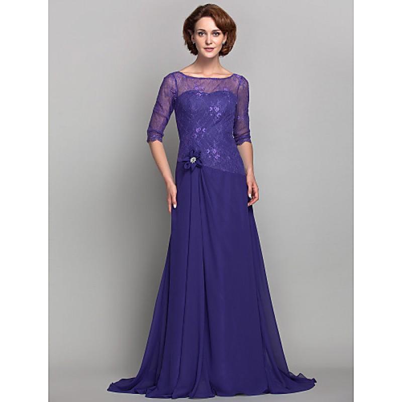 d1a1d60063275 A-line Plus Sizes   Petite Mother of the Bride Dress - Regency Sweep ...