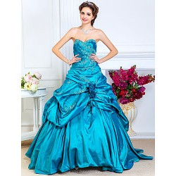 Prom Formal Evening Quinceanera Sweet 16 Dress Jade Plus Sizes Petite A Line Princess Ball Gown Strapless Sweetheart