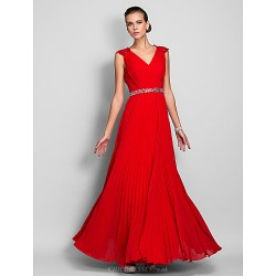 Formal Evening / Prom / Military Ball Dress - Ruby Plus Sizes / Petite Sheath/Column Queen Anne Floor-length Chiffon