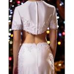 Trumpet/Mermaid Wedding Dress - White Sweep/Brush Train Jewel Knit Special Occasion Dresses
