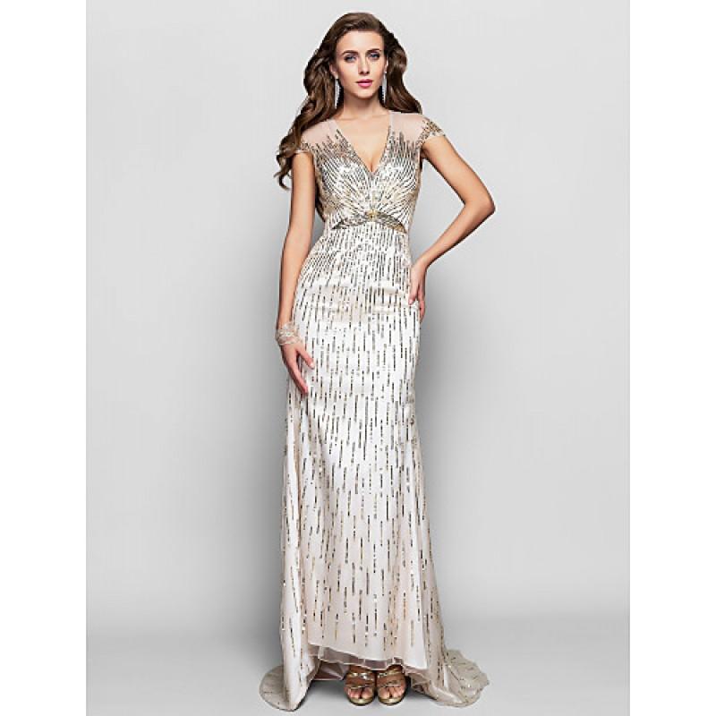 Silver Asymmetrical Evening Dresses