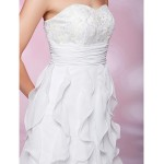 TS Couture Cocktail Party / Graduation / Wedding Party Dress - White Plus Sizes / Petite A-line / Princess Strapless / Sweetheart Knee-lengthLace / Special Occasion Dresses