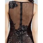 Cocktail Party Dress - Black Plus Sizes / Petite Sheath/Column Bateau Short/Mini Lace Special Occasion Dresses