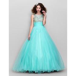 Dress Multi Color Plus Sizes Petite A Line Scoop Floor Length Tulle